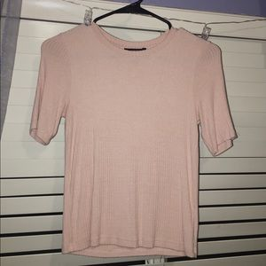 Baby Pink Fitted T-Shirt
